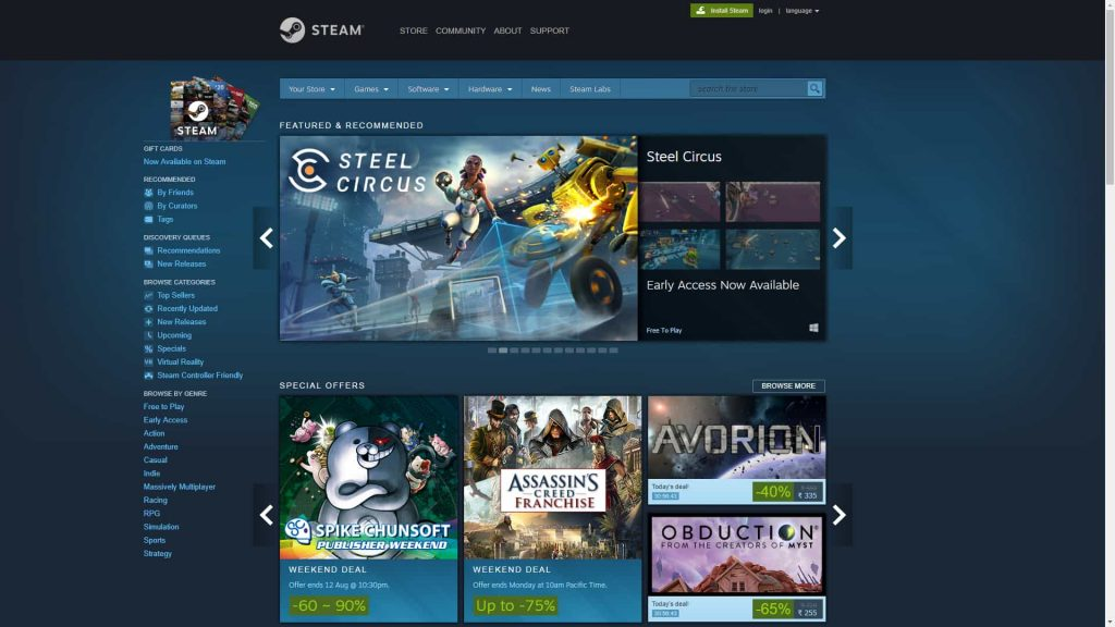 paid pc steam games for free